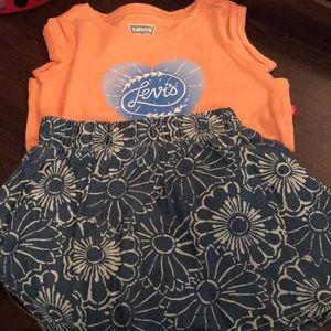 Levi's Skirt & Shirt zest